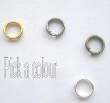 5mm split rings x 52. Pick a colour.